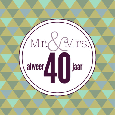 Versieringen 40 Jaar Huwelijk